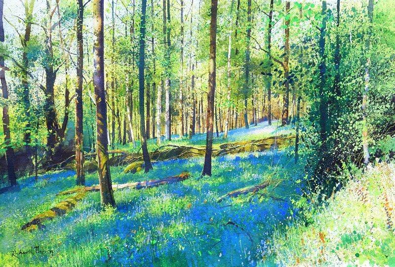 Richard Thorn, painting Devon Landscapes
