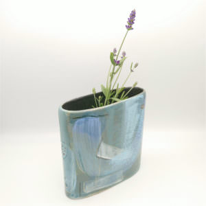 All Aboard vase, ceramics by Susan Luker
