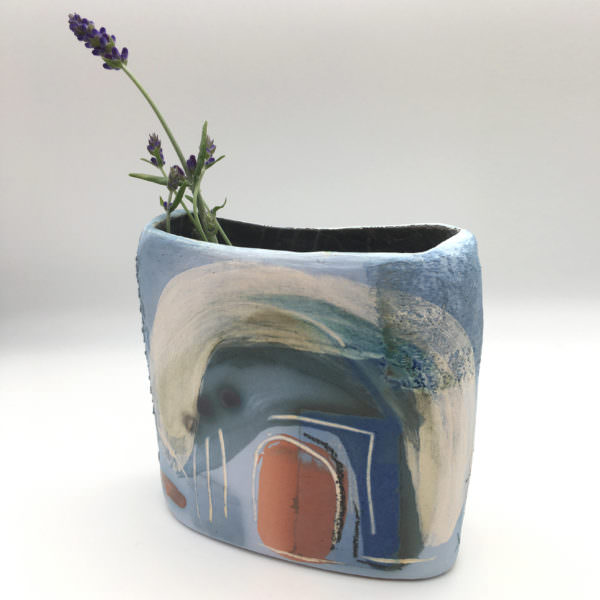 Blue Bells in the wood, ceramics by Susan Luker