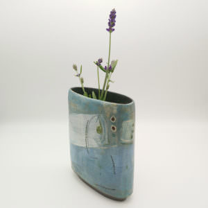 Sailing Boat vase, ceramics by Susan Luker