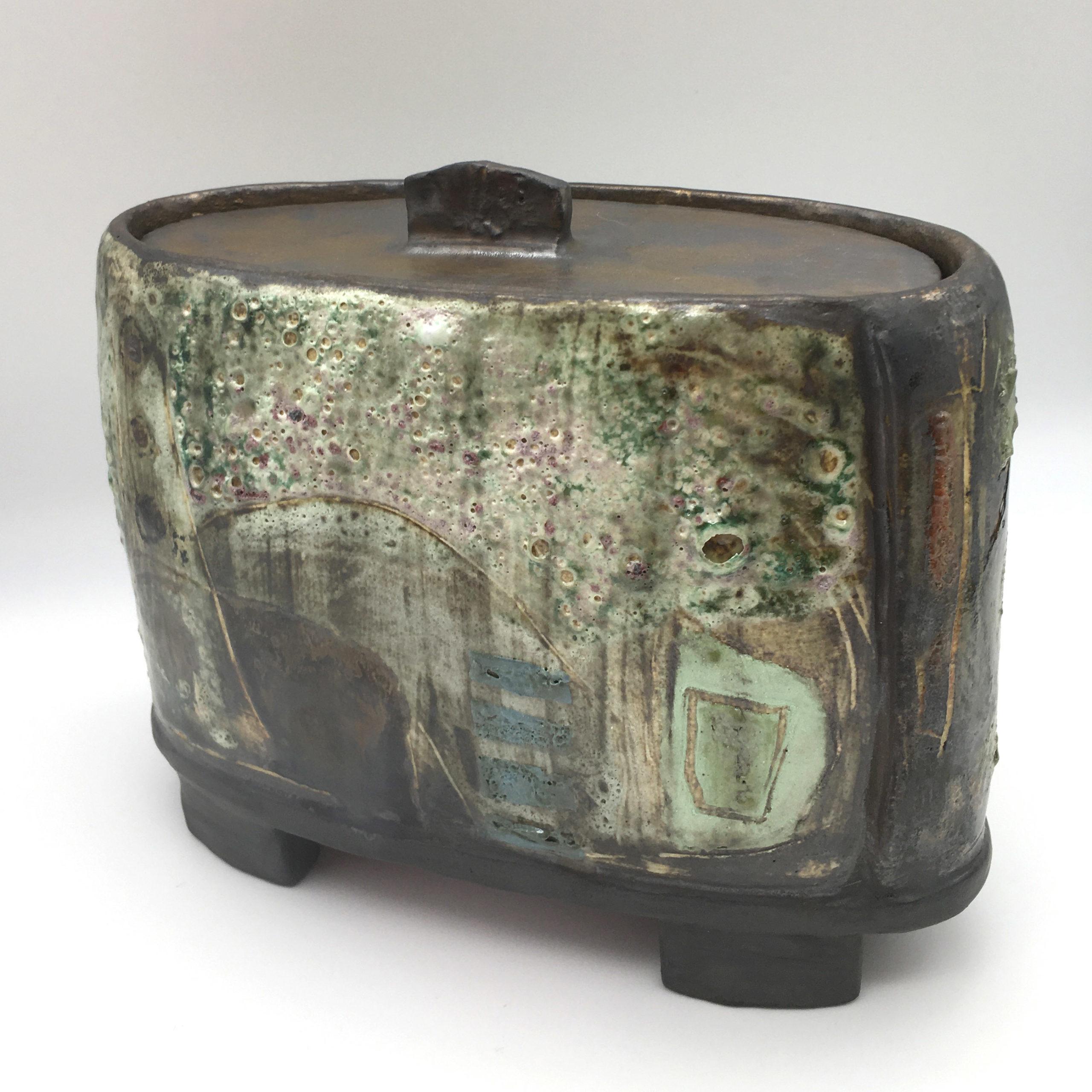 The Keeper I, ceramics by Susan Luker