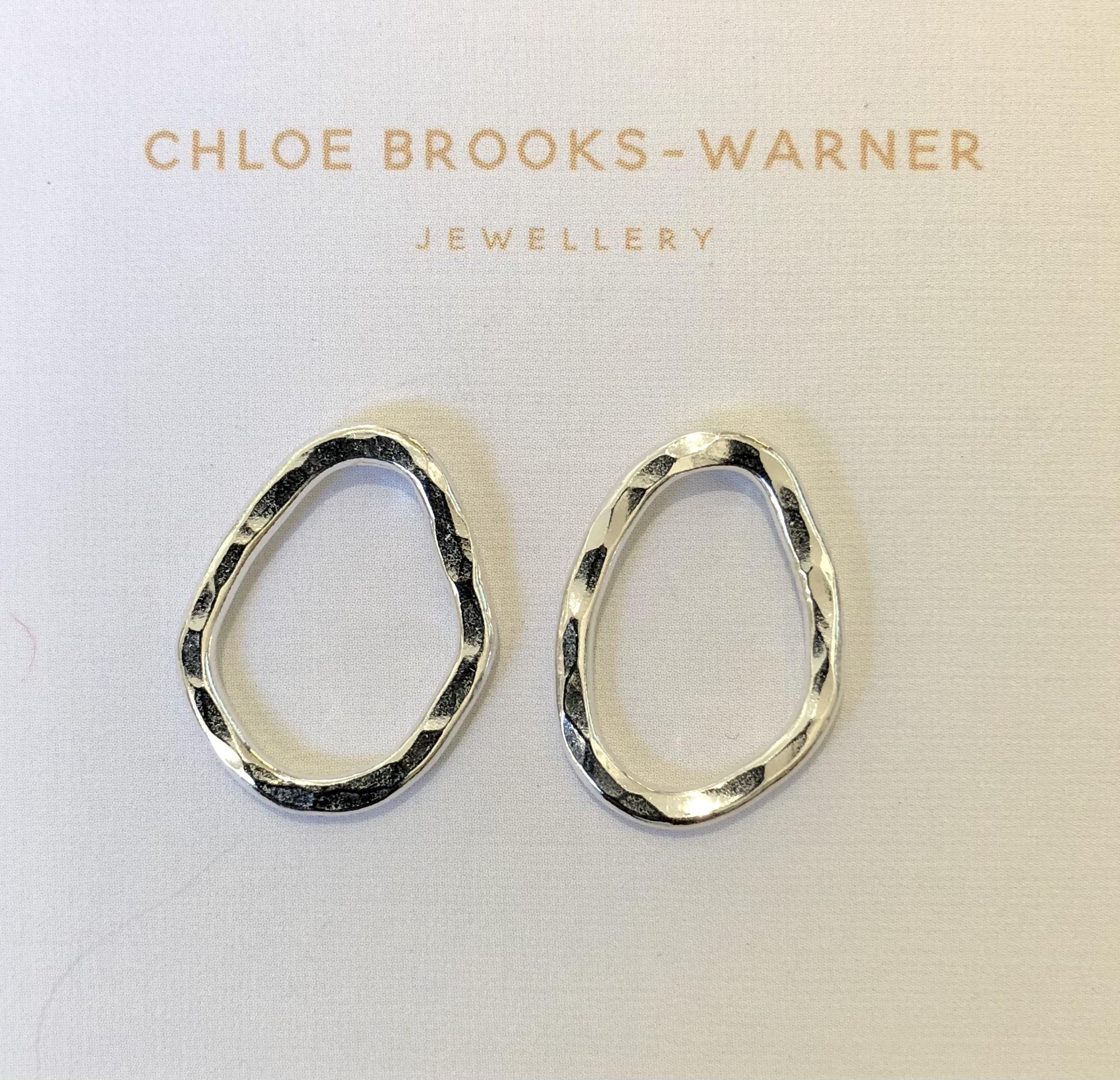 Silver Sun Studs- Handmade by Devon jeweller Chloe Brooks Warner