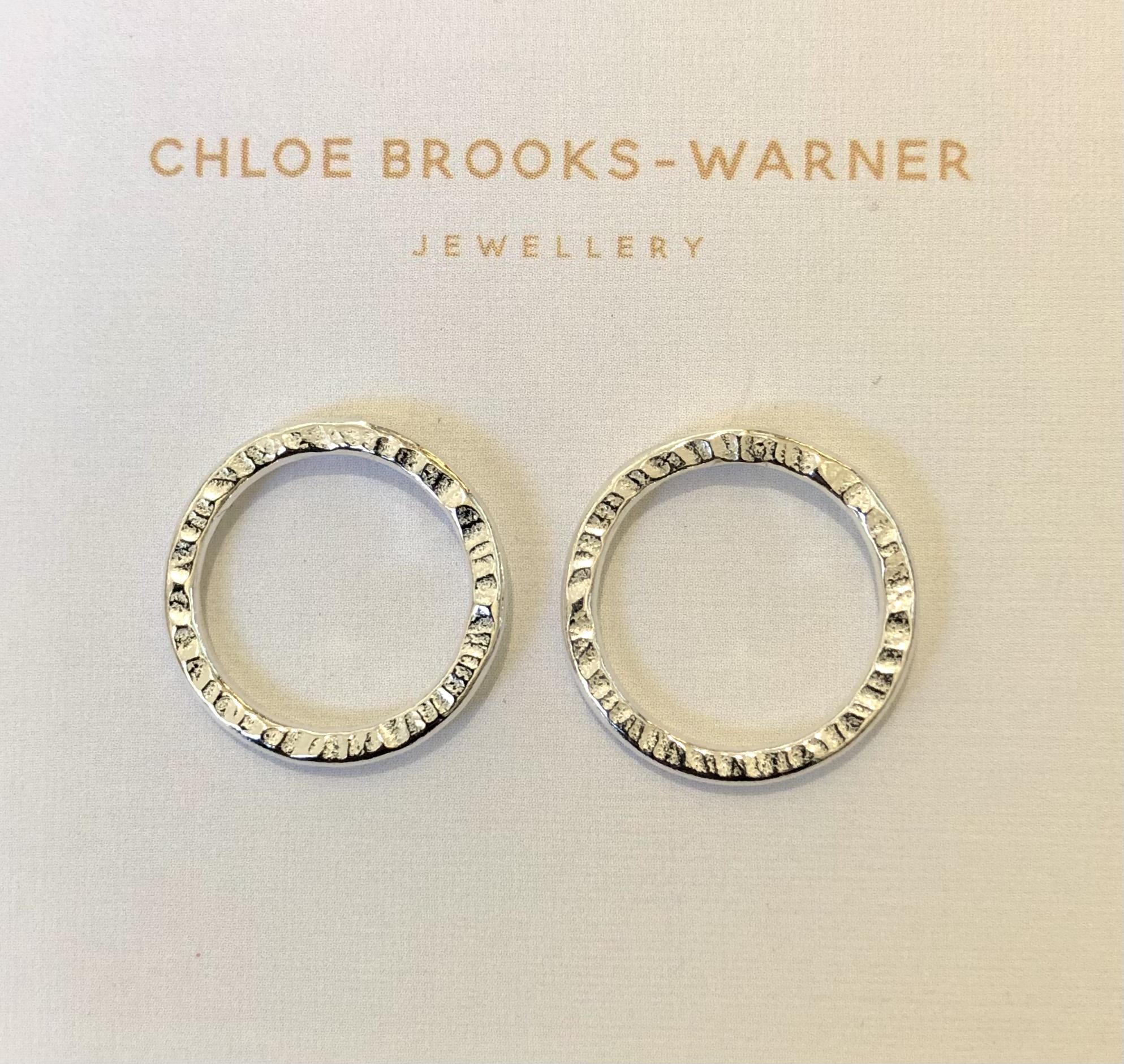 Silver Sun studs by Devon jeweller Chloe Brooks-Warner
