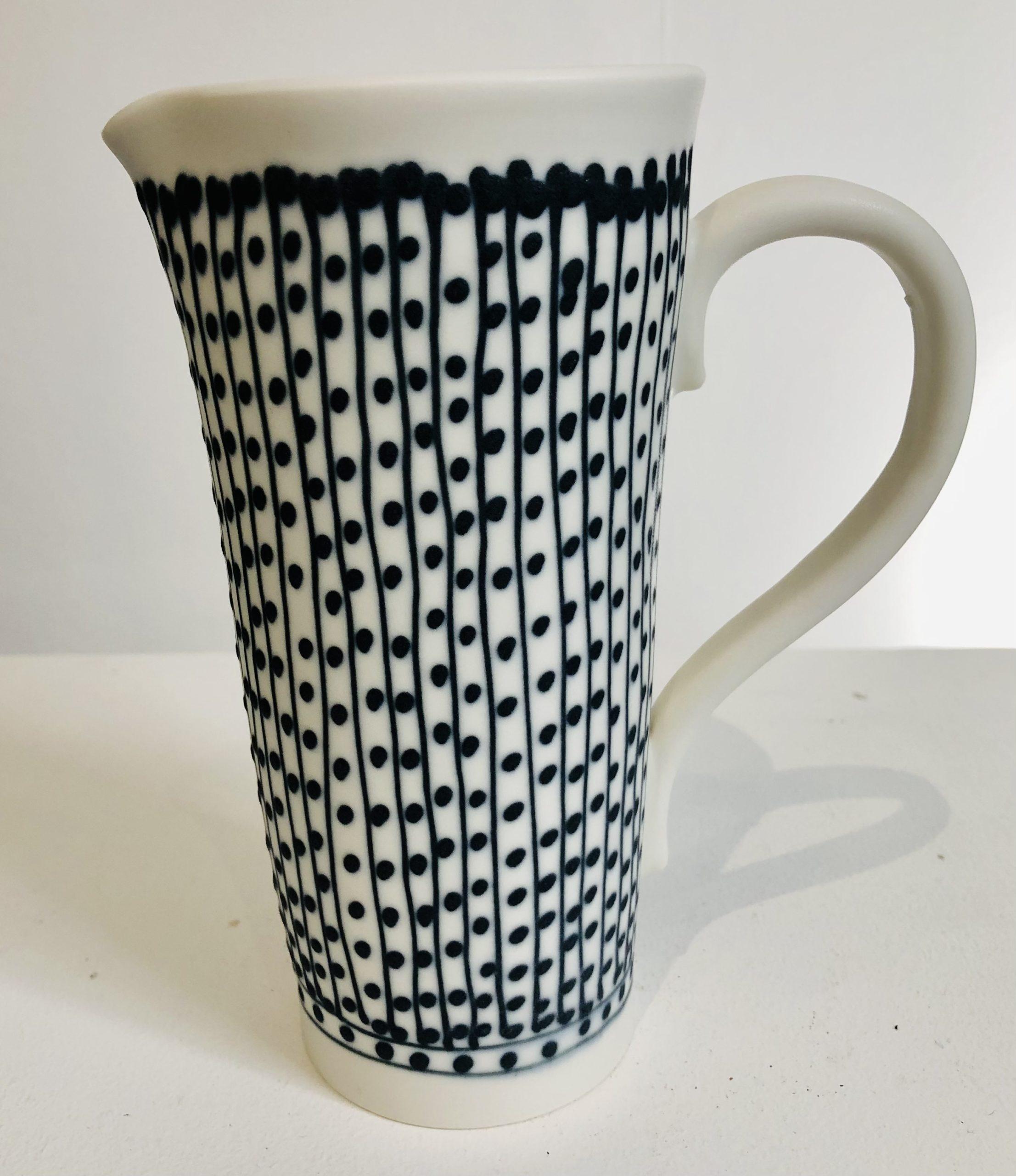 Jug handmade by ceramicist Philippa de Burlett