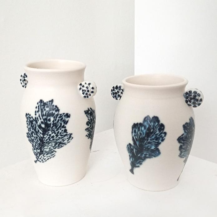 Ceramic Vase with Leaf