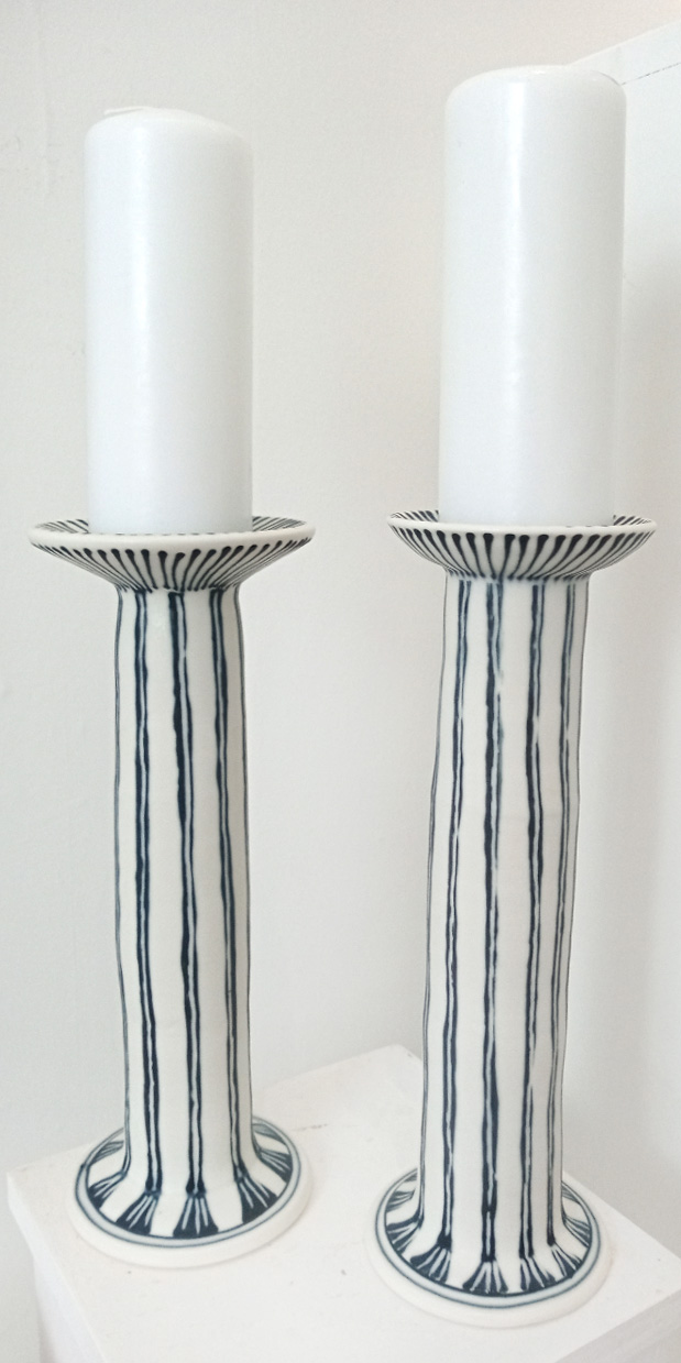 Candlestick Ceramic Set of two