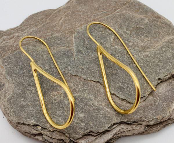 Drop Earrings in Gold, handmade by devon jeweller Chloe Brooks-Warner