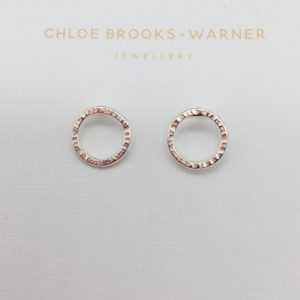 Mini sun studs by jeweller Chloe Brooks Warner