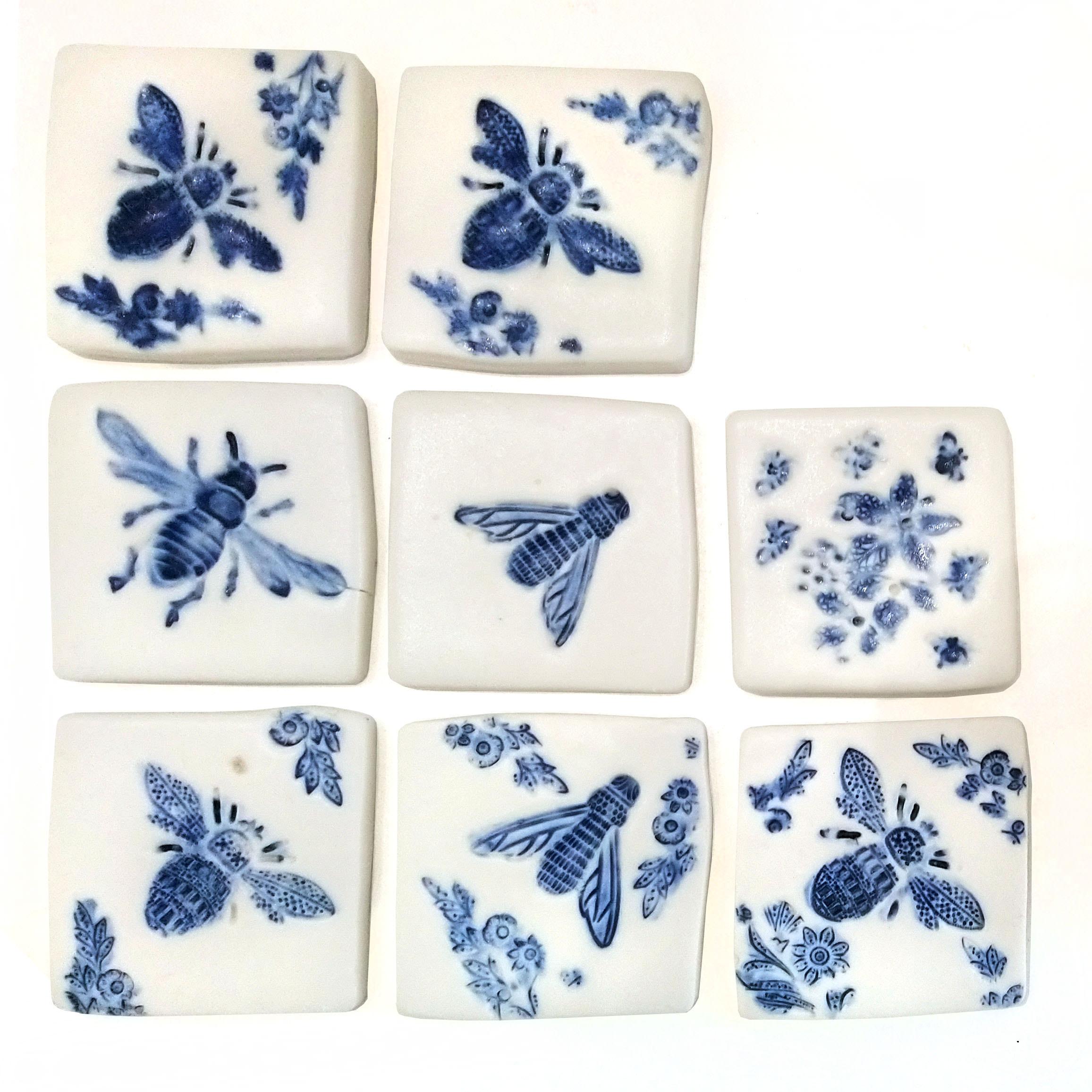 Decorative mini porcelain tiles