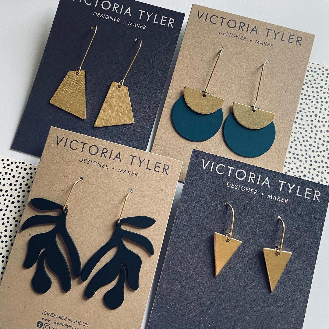 Victoria Tyler Designer Brass earrings