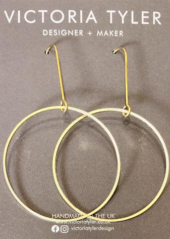 Hoop earrings by Victoria Tyler. Contemporary, art deco jewellery