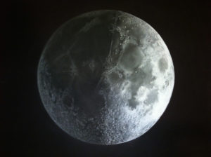 Moon in first quarter by Anna Ventura