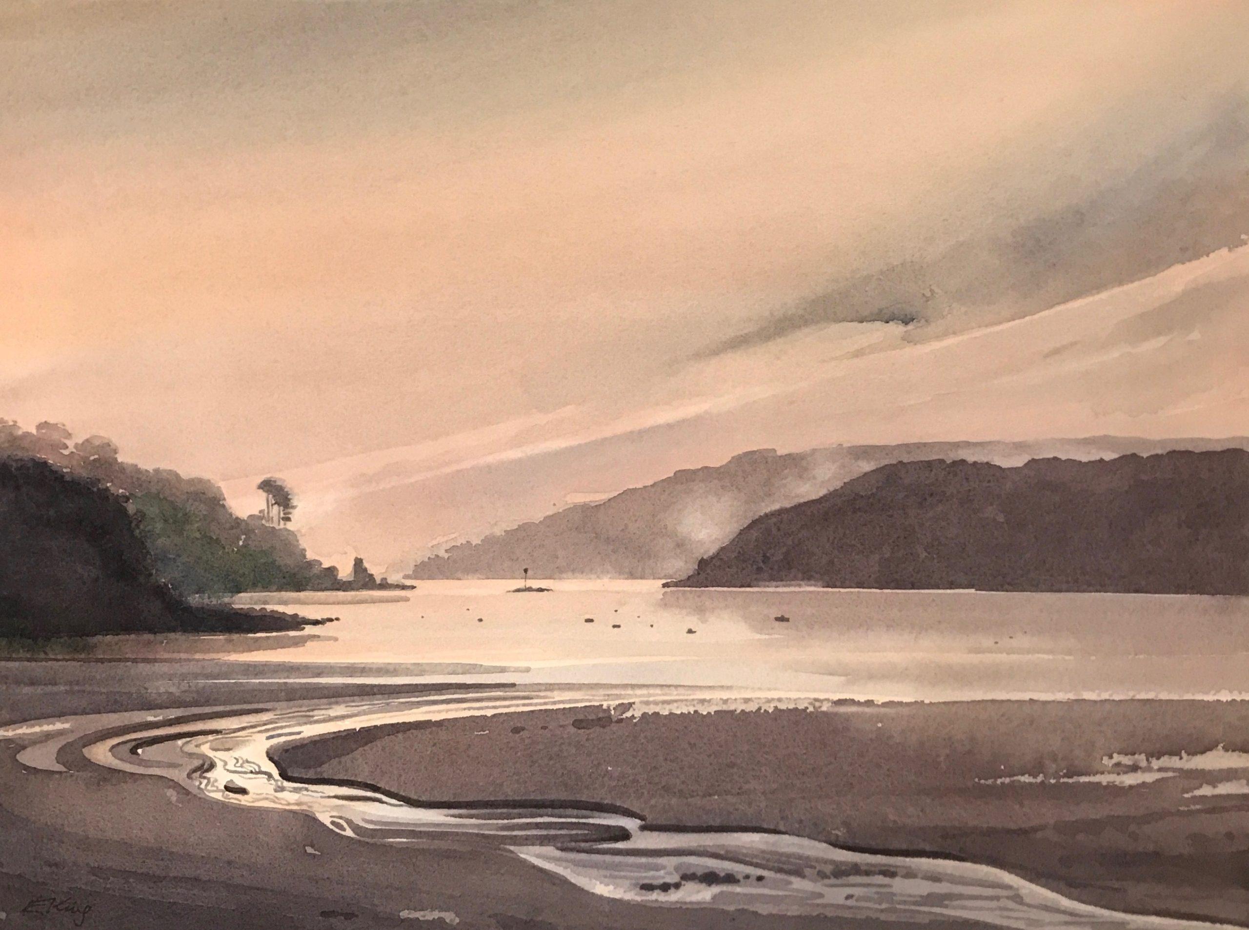 After the Storm - Original Watercolour by Devon artist Eleanor King