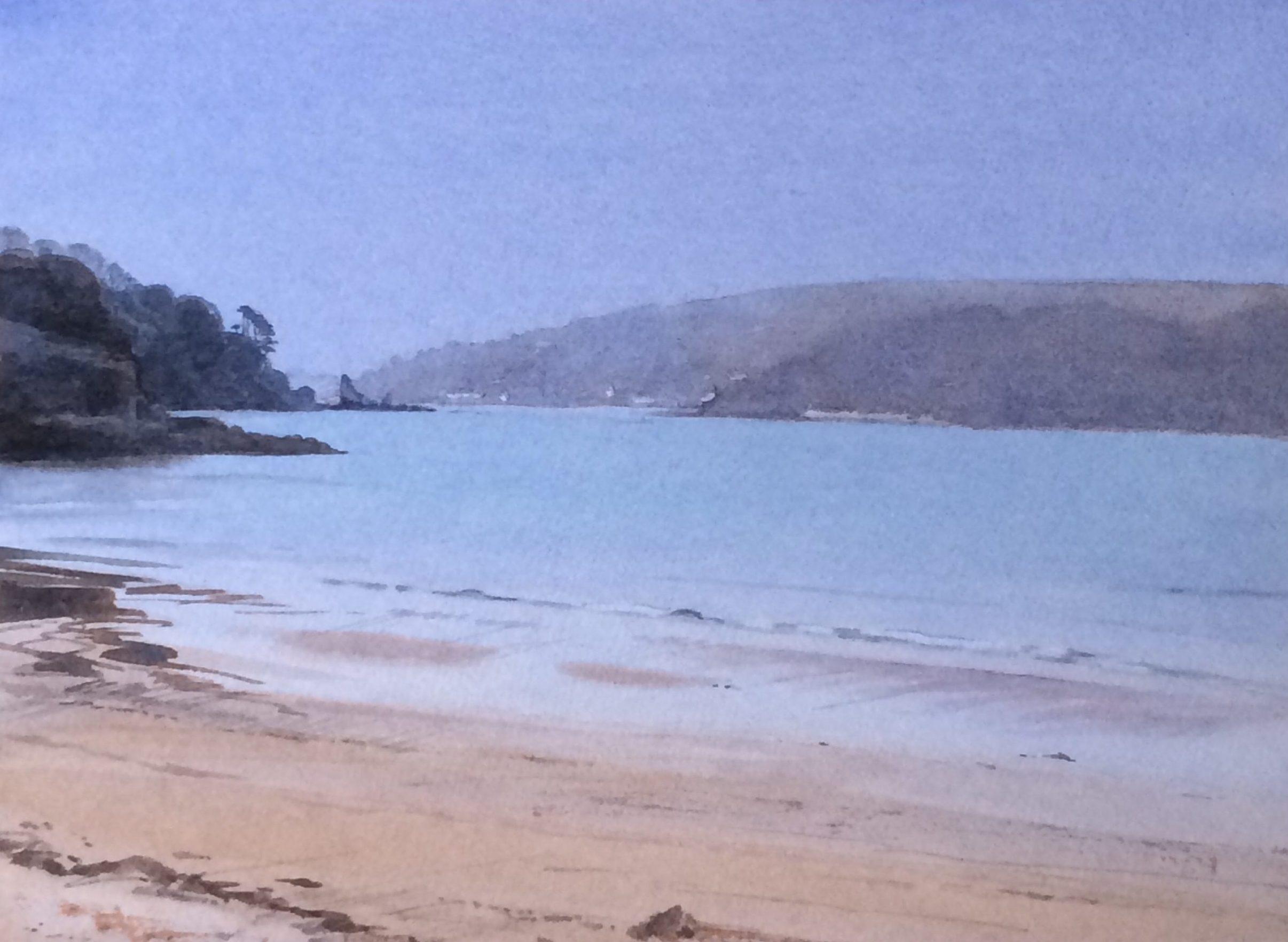 Dusk South Sands - Limited Edition by Devon artist Eleanor King