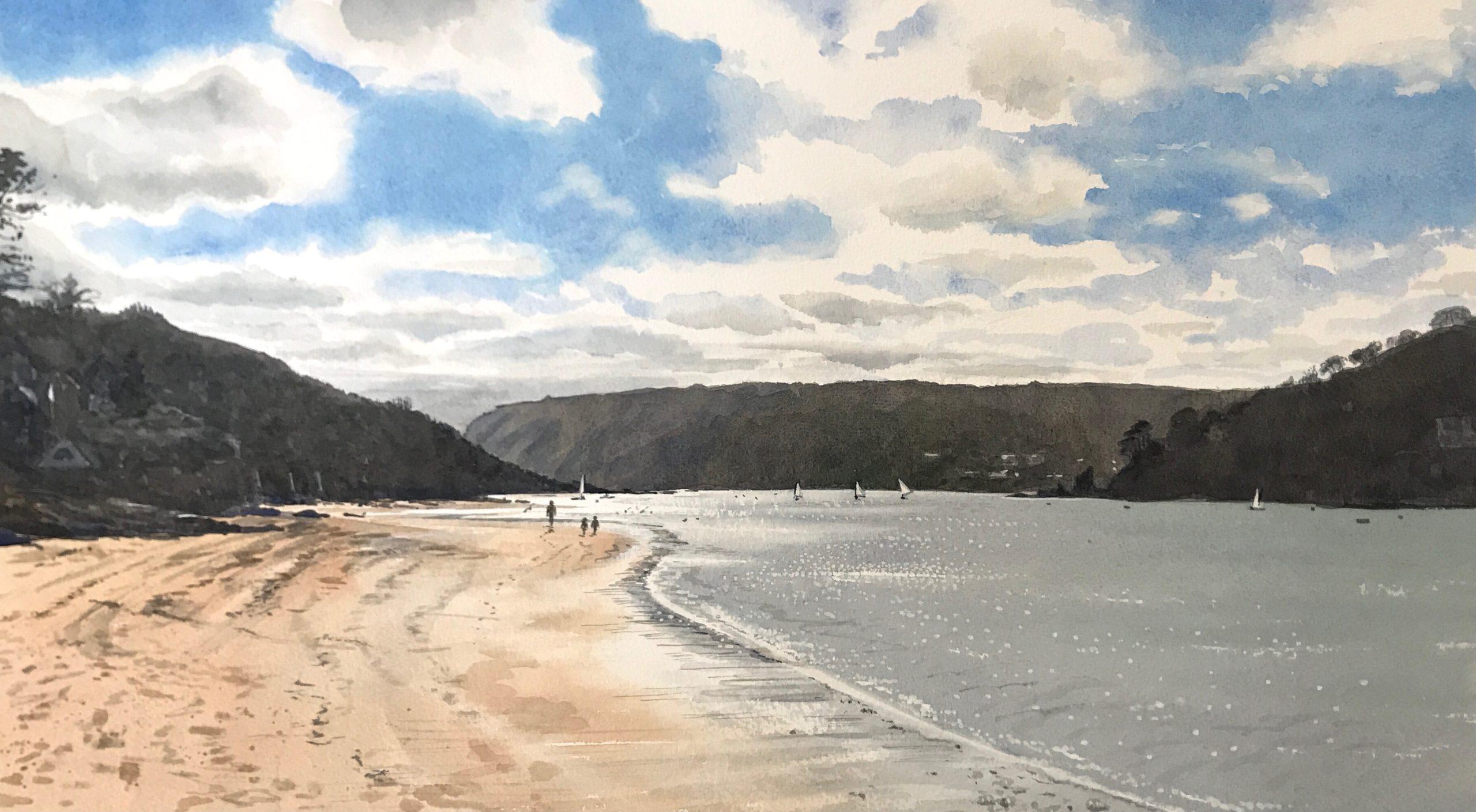Mill Bay - Original Watercolour by Devon artist Eleanor King