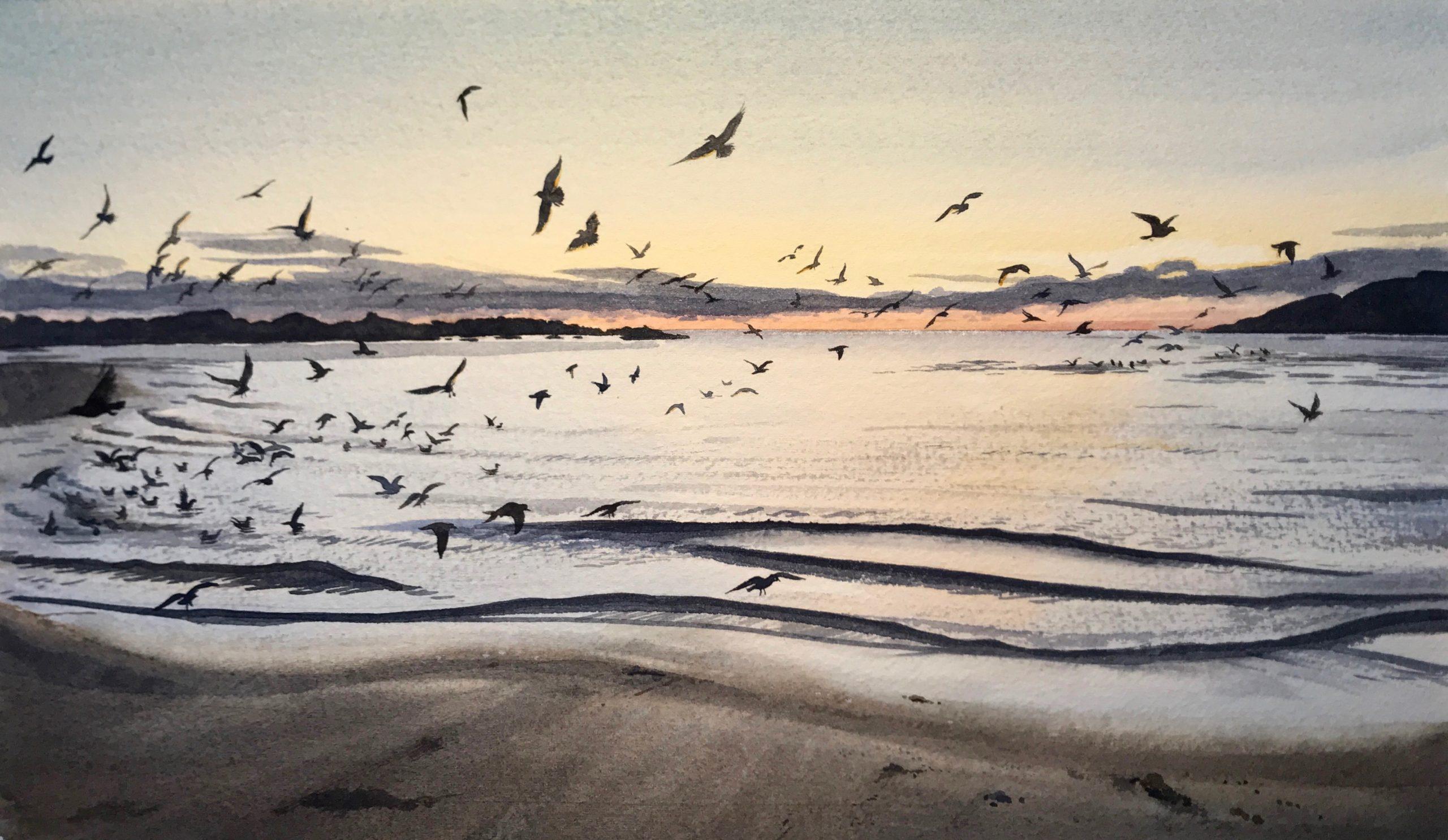 Taking Flight - Original Watercolour by Devon artist Eleanor King