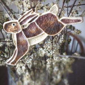 Hare Decoration by Sally Mills